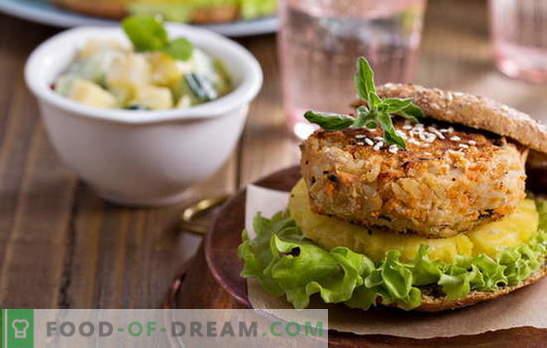 Côtelettes de haricots - pas de viande et pas besoin! Recettes de différentes côtelettes de haricots avec légumes, céréales, poulet, saucisses