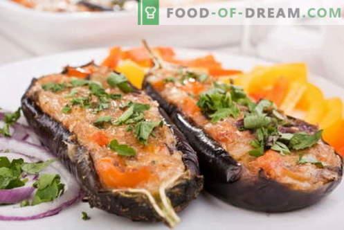 Aubergines cuites au four - les meilleures recettes. Comment cuire correctement et savoureux aubergines cuites au four.