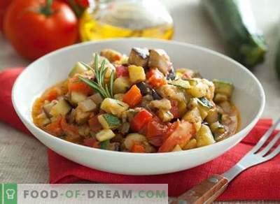 Ragoût de légumes aubergines - les meilleures recettes. Comment bien et savoureux cuire le ragoût avec des aubergines.