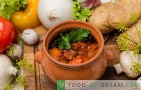 Rôti inhabituel - coeurs de poulet dans des pots. Variantes de coeurs de poulet dans des pots avec des céréales, des champignons, des légumes