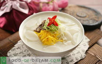 Koreanische Suppe - duftend, heiß und mächtig! Koreanische Suppenrezepte: mit Daikon, Meeresfrüchten, Nudeln, Kohl, Tofu