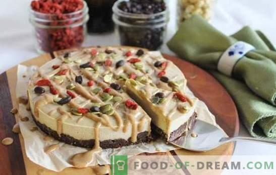 Gâteau de nourriture crue - sucré à bon. Recettes de gâteaux crus à base de noix et de fruits secs