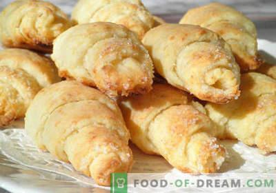 Bagels au fromage blanc - les meilleures recettes. Comment cuire correctement et savourer des bagels à partir de la pâte à fromage cottage.