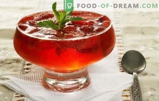 Dessert facile et savoureux - gelée de confiture. Recettes simples et originales gelée de confiture avec gélatine et agar-agar