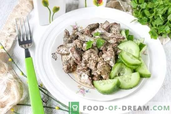 Recette photo: foie dans un style de Stroganov - un vieux plat russe. Recette de foie étape par étape dans un style de Stroganov: photo