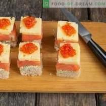 Canapés au saumon pour un buffet de fête