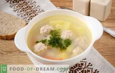 Soupe aux boulettes de porc émincées: recette photo! Soupe légère et nourrissante pour toute la famille en 45 minutes