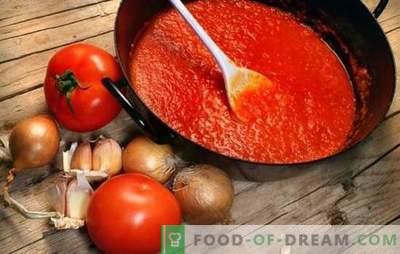 Sauces à la tomate pour l'hiver: du ketchup géorgien à l'adika de Crimée. Nous préparons des sauces tomates faites maison pour l'hiver