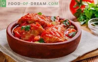 Cuisine chakhokhbili étape par étape à partir de poulet - recettes et toutes les règles! Comment faire cuire le Chakhokhbili géorgien à partir de poulet (recettes étape par étape)