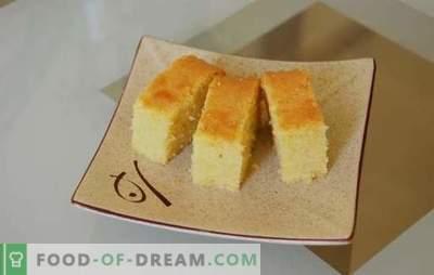 Gâteau éponge sur limonade - un air comme duvet! Variantes de biscuits sur la limonade au four et une mijoteuse avec addition de fruits, baies et noix