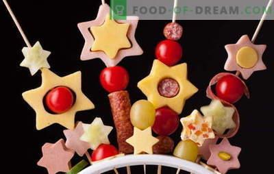 Canape pour les enfants - feu d'artifice amusant sur la table! Recettes pour sandwiches canapés miniatures pour les enfants: sucré et salé