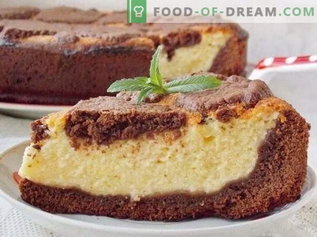 gâteau au fromage et au chocolat girafe