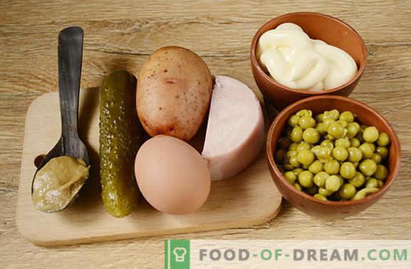 Olivier: la salade la plus populaire sur la table des fêtes! Salade classique Olivier: une recette photo étape par étape avec les secrets de l'auteur pour améliorer le goût du plat