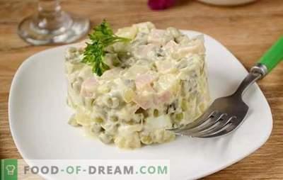 Olivier: der beliebteste Salat am Feiertagstisch! Klassischer Salat Olivier: Ein schrittweises Fotorezept mit den Geheimnissen des Autors zur Verbesserung des Geschmacks des Gerichts