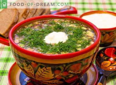 Okrochka - recettes classiques éprouvées. Comment cuire correctement et savoureux okroshka sur kvass, kéfir, lactosérum, eau minérale et mayonnaise.