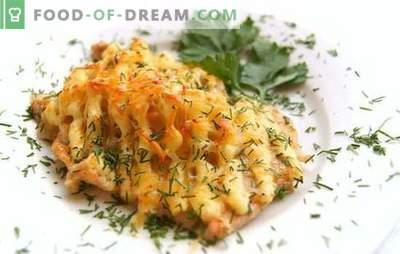 Le poisson sous la mayonnaise au four est un plat sans prétention! Recettes pour le poisson cuit au four mayonnaise au four avec pommes de terre, fromage, divers légumes