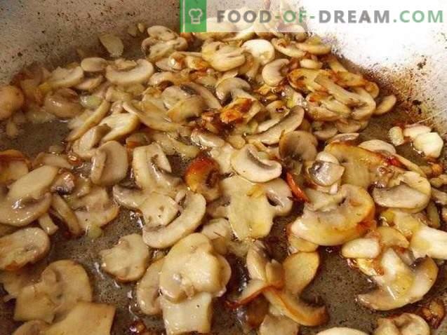 Pomme de terre zrazy aux champignons