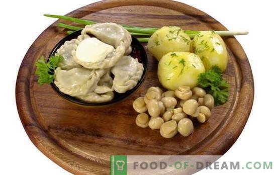 Dumplings avec pommes de terre et champignons - et pas de viande! Une sélection des recettes les plus alléchantes de raviolis aux pommes de terre et aux champignons