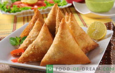Samsa avec pâte feuilletée - un favori de la cuisine orientale. Recette de samsa à la pâte feuilletée: soyez patient!