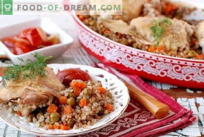 Sarrasin au poulet - les meilleures recettes. Comment bien cuire du poulet avec du sarrasin au four et dans la mijoteuse.