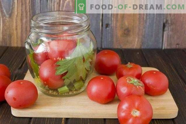 Tomates marinées au céleri et à la moutarde
