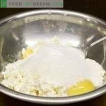 Casserole de fromage cottage avec pommes et hercules