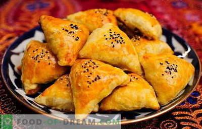 Samsa - die besten Rezepte. Wie man das Camsu richtig und lecker kocht.