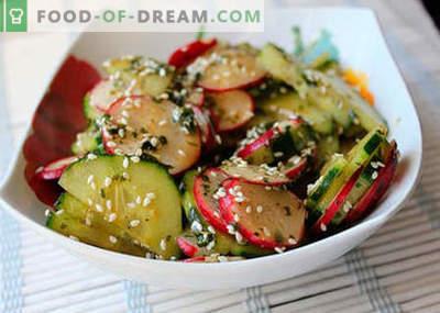 Salades japonaises - les meilleures recettes. Comment cuire correctement et savoureux salade japonaise.