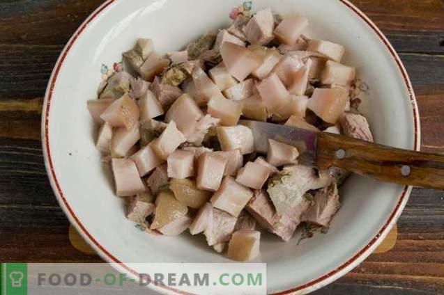 Rustieke vleessalade