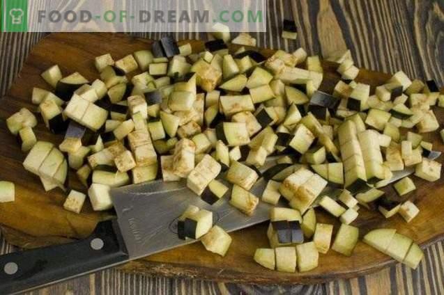 Salade de légumes avec du riz pour l'hiver
