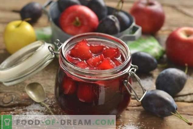 Plūmju ievārījums ar āboliem ziemai