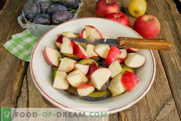 Confiture de prunes aux pommes pour l'hiver