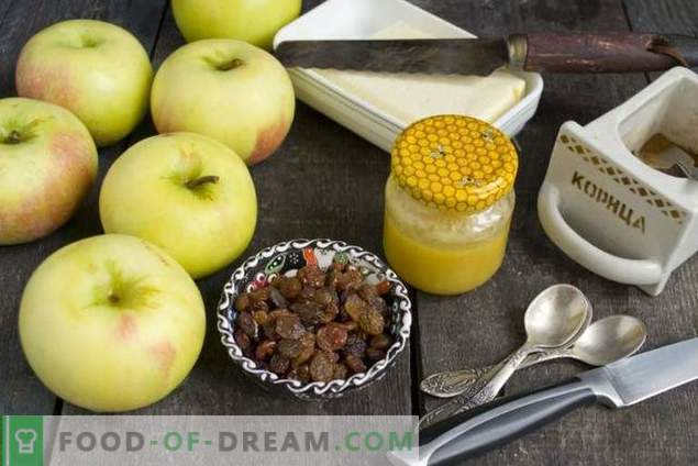 Pommes au four avec miel et fruits secs