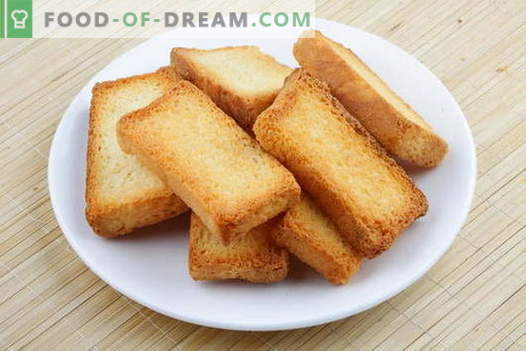 pain grillé - les meilleures recettes. Comment correctement et savoureux pain grillé cuit du pain.
