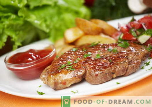 Steak de porc - les meilleures recettes. Comment cuire correctement et savoureux steak de porc.