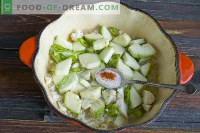 Riz au jasmin avec courgettes et olives