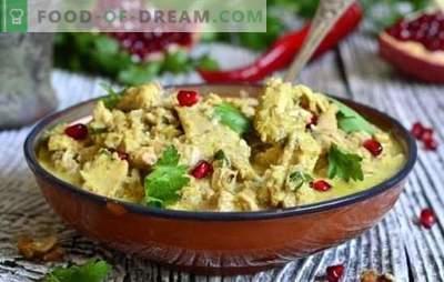 Satsivi au poulet géorgien: qui est contre? Secrets de la cuisine caucasienne et recettes du poulet géorgien Satsivi