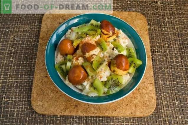 Salade de poulet aux kiwis et noix