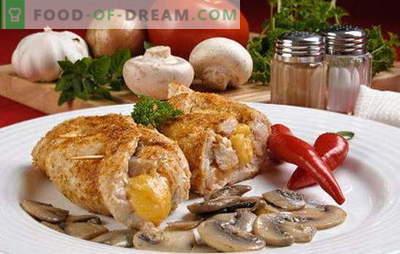 Côtelettes aux champignons - de tous les goûts! Différents types de boulettes de viande aux champignons: ordinaire, farci, maigre, viande et poulet