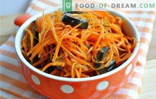 Les aubergines marinées avec des carottes pour l'hiver constituent une collation saine. Comment fermenter des aubergines avec des carottes pour l'hiver - une sélection des meilleurs flans