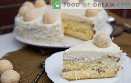 Gâteau Raffaello étonnant: recettes à la maison. Tous les secrets et subtilités de la fabrication du gâteau Raffaello à la maison