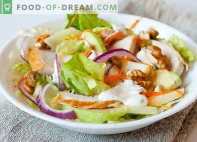 Salade de poulet fumé - les meilleures recettes. Comment bien et savoureux salade cuite au poulet fumé.