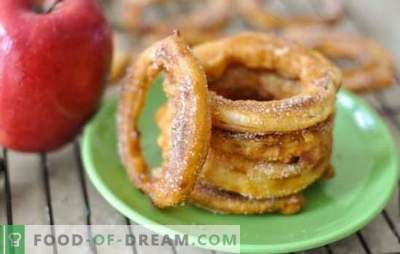 Pommes dans la pâte - Dessert impeccablement délicieux. Les meilleures recettes pour les pommes dans la pâte de différents types de pâte: une délicatesse avec des avantages!