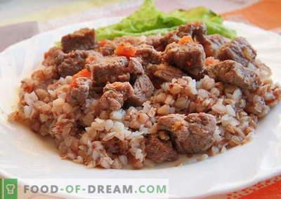 Елда с месо - най-добрите рецепти. Как да правилно и вкусно варени елда с месо.