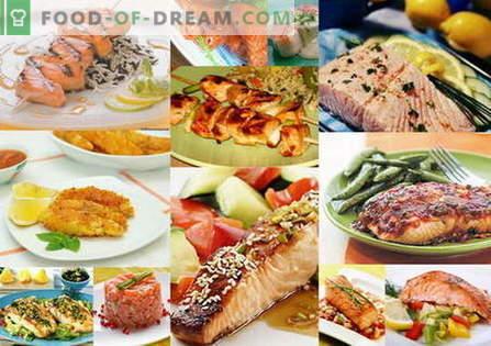 Les plats au saumon sont les meilleures recettes. Comment cuire correctement et savoureux le saumon.