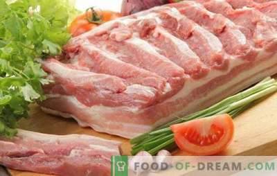 Poitrine de porc grasse et nuisible? Non, juteux et délicieux! Les meilleures recettes traditionnelles et d'auteur de poitrine de porc