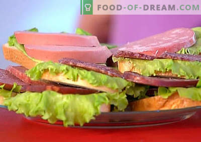 Sausage sandwiches are the best recipes. How to quickly and tasty cook sandwiches with sausage.