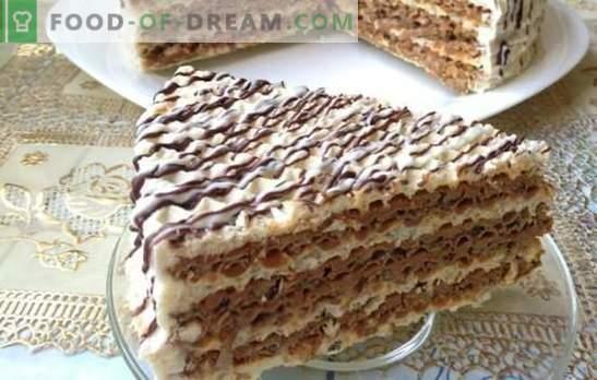 Le gâteau de gaufrette est simple et de bon goût! Gâteaux de gaufrettes rapides avec diverses crèmes
