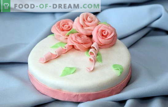 Sugar paste for homemade cake: on milk, gelatin, from marshmallows. Recipes for sugar mastic at home