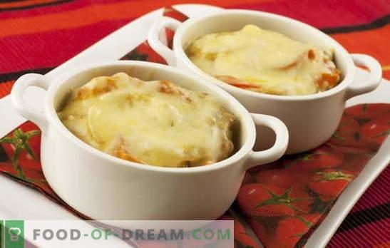 Pommes de terre au fromage - une baguette magique. Recettes de pommes de terre au fromage: champignons, légumes, viande